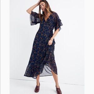 NWT MADEWELL Vervain ruffle sleeve wrap dress